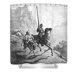 Don Quixote And Sancho Shower Curtain by Granger