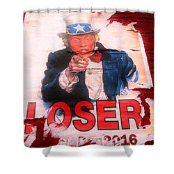Donald Trump Loser Or Winner  Shower Curtain by Funkpix Photo Hunter