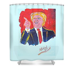 Donald Trump You Are Great America Is Great  Shower Curtain by Richard W Linford