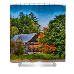 Done With Summer Shower Curtain by Tricia Marchlik