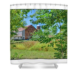 Donkey Barn Shower Curtain by R Thomas Berner