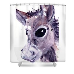 Shower Curtain featuring the painting Donkey by Dawn Derman
