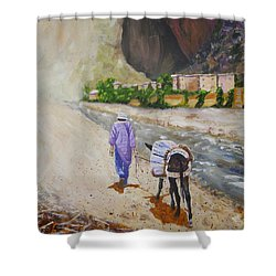 Donkey Work Shower Curtain