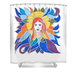 Donna Soul Portrait Shower Curtain