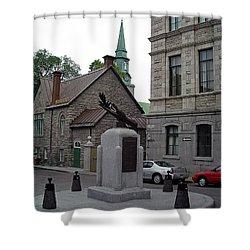 Shower Curtain featuring the photograph Donnacona And Du Parloir by John Schneider
