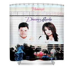 Donny And Marie Osmond Large Ad On Hotel Shower Curtain