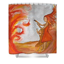 Don't Be Afraid Shower Curtain by Gioia Albano