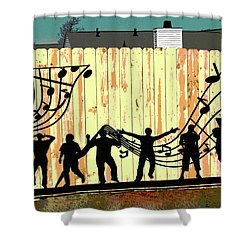 Don't Fence Me In Shower Curtain by Charles Shoup