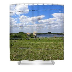 Shower Curtain featuring the photograph Don't Fence Me In by Chris Mercer