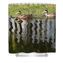 Don't Fence Us In Shower Curtain by Kathy M Krause