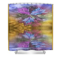 Shower Curtain featuring the mixed media Dont Go Away by Ray Tapajna