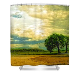 Don't Know Why There's No Sun Up In The Sky Shower Curtain