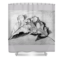 Don't Leaf Me Shower Curtain by Jean Haynes
