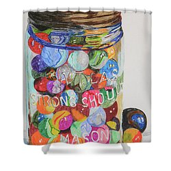 Don't Lose Your Marbles Shower Curtain