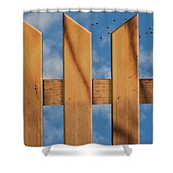 Don't Take A Fence Shower Curtain by Paul Wear