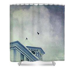 Don't Wait Around Shower Curtain by Priska Wettstein