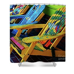 Dont Worry Be Happy Shower Curtain by Debbi Granruth