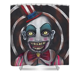 Don't You Like Clowns?  Shower Curtain by Abril Andrade Griffith