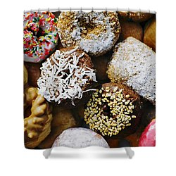 Shower Curtain featuring the photograph Donuts by Vivian Krug Cotton