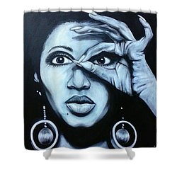Donyele Shower Curtain by Jenny Pickens