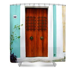 Door 51 Shower Curtain by Perry Webster