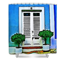Door 61 Shower Curtain by Perry Webster