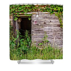 Shower Curtain featuring the photograph Door Ajar by Christopher Holmes
