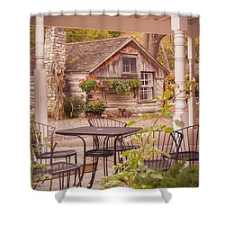 Shower Curtain featuring the photograph Door County Thorp Cottage by Heidi Hermes