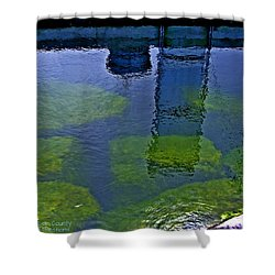 Shower Curtain featuring the photograph Door County Reflections by Perry Andropolis
