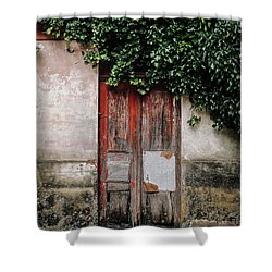 Shower Curtain featuring the photograph Door Covered With Ivy by Marco Oliveira