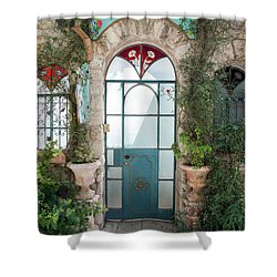 Door Entrance To The Art Shower Curtain by Yoel Koskas