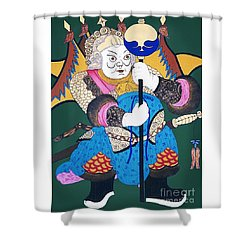 Shower Curtain featuring the painting Door Guard No.1 by Fei A