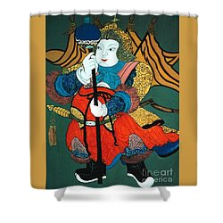 Shower Curtain featuring the painting Door Guard No.2 by Fei A