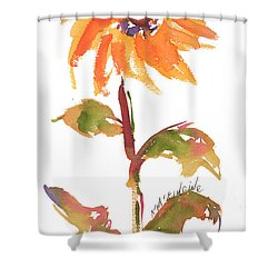 Door Keeper Sunflower Watercolor Painting By Kmcelwaine Shower Curtain