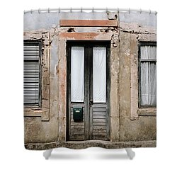 Shower Curtain featuring the photograph Door No 128 by Marco Oliveira