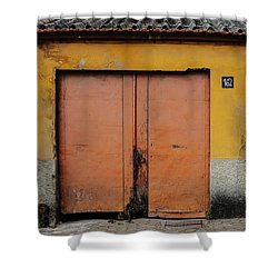 Shower Curtain featuring the photograph Door No 162 by Marco Oliveira