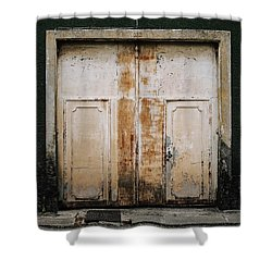 Shower Curtain featuring the photograph Door No 163 by Marco Oliveira