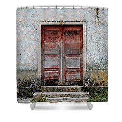 Shower Curtain featuring the photograph Door No 175 by Marco Oliveira
