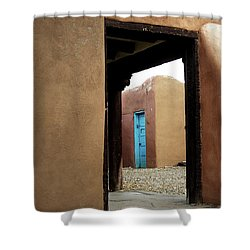 Shower Curtain featuring the photograph Door Through Door by Nadalyn Larsen