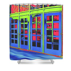 Shower Curtain featuring the digital art Doorplay by Wendy J St Christopher