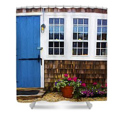 Blue Door - Doors And Windows Series 01 Shower Curtain