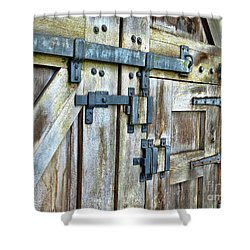 Doors At Caerphilly Castle Shower Curtain