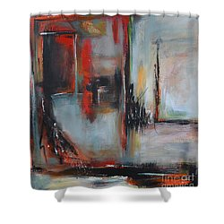 Shower Curtain featuring the painting Doors by Cher Devereaux