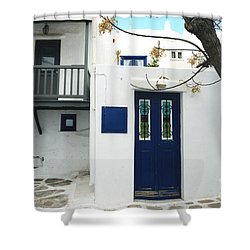 Shower Curtain featuring the photograph Doors by Haleh Mahbod