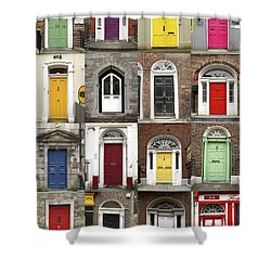 Doors Of Limerick Shower Curtain by Marie Leslie