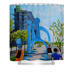 Toronto Canary District - Doors Open Toronto Shower Curtain