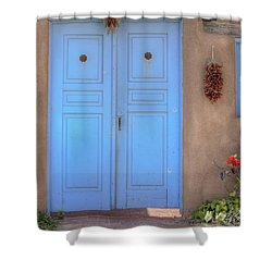 Doors, Peppers And Flowers. Shower Curtain