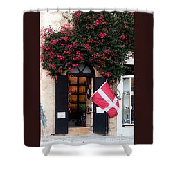 Doorway Malta Shower Curtain by Tom Prendergast