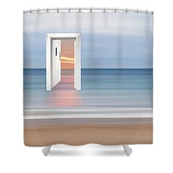 Doorway To The Future Shower Curtain by Gill Billington