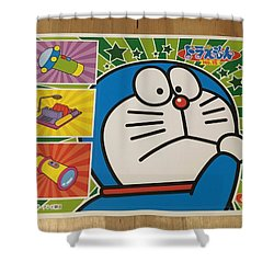 Doraemon Gadget Cat From The Future Shower Curtain